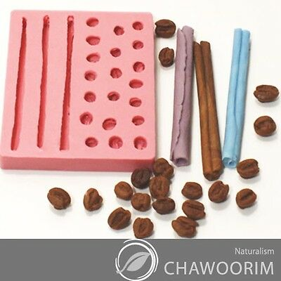 Candle molds Decorating Silicone molds Cake Toppers, Coffe Bean, Cinamon No.19