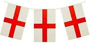England-St-Georges-Day-Flag-Bunting-Party-Banner-20-Flags-10M-32-feet-Long