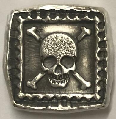 "1 Troy Oz MK BarZ /""Texas Steer Bar/"" .999 Fine Silver Hand Poured"