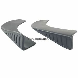 Universal-Bumper-Front-Or-Rear-Addons-Splitter-Set-Caps-Aprons-For-Any-Bumper