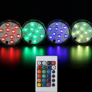 Underwater RGB LED Disco Light Glow Show Swimming Pool Hot Tub Spa Lamp Remote