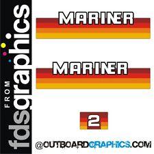 Mariner 2hp rainbow outboard engine decals/sticker kit