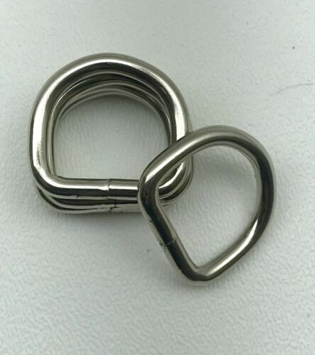 "Heavy Duty 1"" Nickel Plated D-Ring// Handbags// Dog Collar High Quality Lot Of 12"