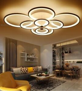 remote control living room bedroom modern ceiling lights dimming led rh ebay com led lighting for living room ideas modern led ceiling lights for living room