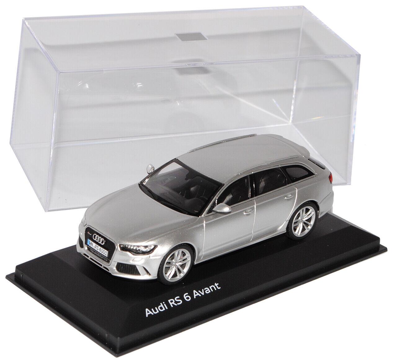 Audi a6 c7 rs6 Avant Avant Avant coche familiar a partir de 2011 prisma plata 1 43 Minichamps modelo auto M.. 29e767
