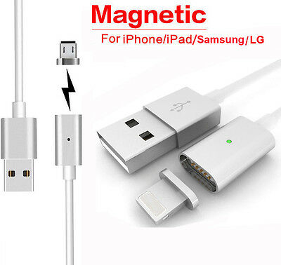 Magnetic Adapter Charger USB Charging Line Cable For Apple iPhone / Samsung/LG