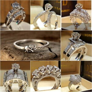 6 Forever Love Mom Heart White Sapphire CZ 925 Silver Ring Mothers Day Jewelry