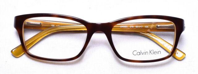 1f3878007a CALVIN KLEIN CK 5691 219 Eyeglass/Glasses Frames 50-17-135 Havana Amber
