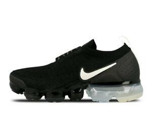 Women-039-s-Nike-Air-Max-Vapormax-Flyknit-Moc-2-BLACK-LIGHT-CREAM-WHITE-AJ6599-002