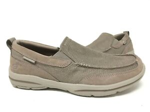 Details about NEW! Skechers Men's HARPER MEZO Taupe Slip On Loafers #65578 63G tk