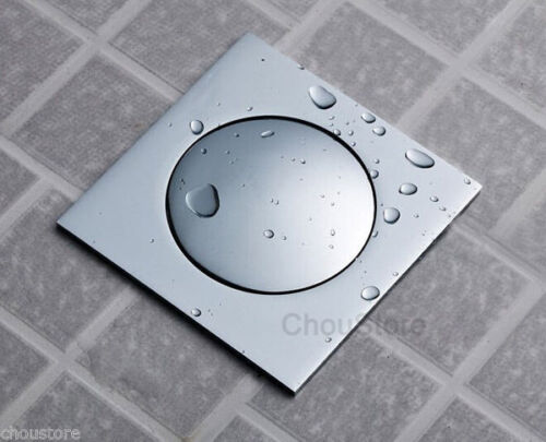 Prensa de drenaje de Suelo Baño Cuadrado Cromo Pop Up Arado Rejilla Para Baño Ducha