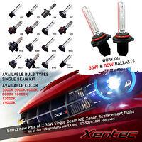 Two HID Kit 's Xenon Light Bulbs H1 H3 H4 H7 H8 H10 H11 9005 9006 5202 880 D2S