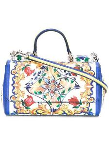 Image is loading Dolce-amp-Gabbana-Majolica-Sicily-Mini-Dauphine-Leather- 0ce2af6e76