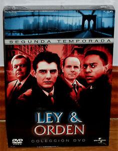 LEY Y ORDEN 2ª TEMPORADA COMPLETA  6 DVD NUEVO PRECINTADO SERIE (SIN ABRIR) R2
