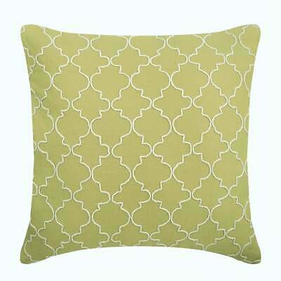 Cotton Linen Couch Pillow Cover 20x20 Inch Decorative Green Green Geometric Ebay