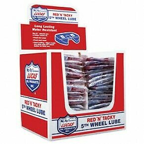 """Display Case of 48-2.5oz Red /""""N/"""" Tacky 5th Wheel Lube Grease 10676 Lucas Oil"""