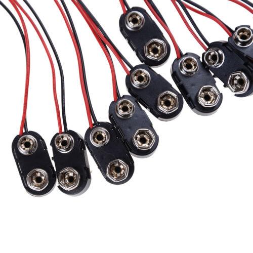 10xPP3 9V Batterie-Anschlussklemme Hart tragend ABS verzinnt Draht führt 150m JM