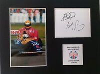 Limited Edition Nigel Mansell Ayrton Senna F1 Signed Mount Display FORMULA ONE