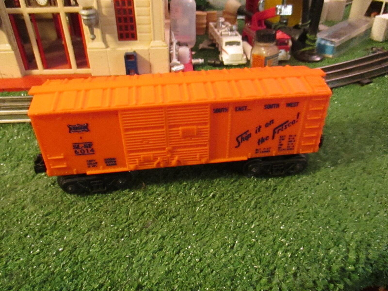 Nach dem krieg 6014 Orange frisco kurz lionel box car c8ln orig cond 1957 scharf
