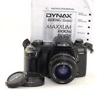 Minolta 600si Classic 35mm Fotocamera SLR + OBIETTIVO MINOLTA da 35-70mm (0320)