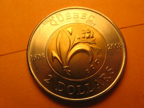 Canada 2008 $2 Coin 400th Anniversary Of The City Of Quebec.