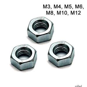 Hexagon Steel Full Nuts - Class 8 - Zinc Plated