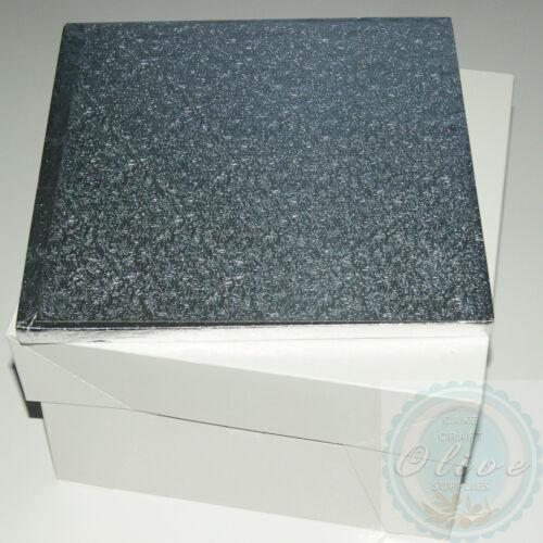 12 pouces tambour gâteau carré board et boîte