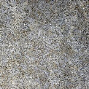 Bronze-Brass-gray-gold-metallic-Crushed-metal-textured-Industrial-Wallpaper-roll