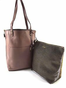 Image Is Loading Innue Italian Blush Pink Soft Leather Tote Reverse