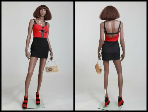 African American Women/'s Full Body Realistic Fiberglass Mannequin with Base