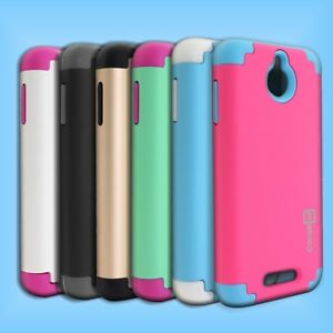 For-HTC-Desire-510-Hybrid-Protective-Case-Hard-Soft-Tough-Dual-Layer-Cover