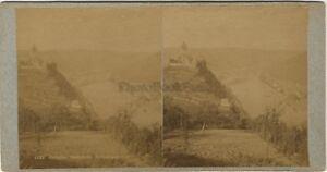 Cochem Panorama Germania Foto Stereo Vintage Albumina