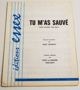 Partition-vintage-sheet-music-EDDY-MARNAY-Tu-m-039-as-Sauve-60-039-s-VISCONTI