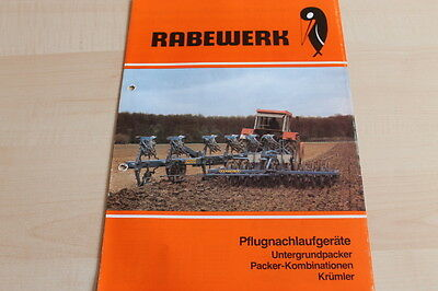 Rabewerk Untergrundpacker Hard-Working 144635 Krümler Prospekt 02/1983 Volume Large