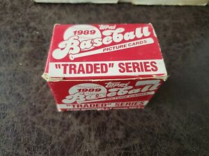 1-1989-Topps-Baseball-Traded-Set-132-cards-Ken-Griffey-Jr-Rookie