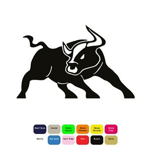 Angry-Bull-Iron-On-T-Shirt-Clothing-Heat-Transfer-Vinyl-Sticker-HTV-Decal