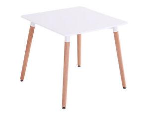 Esstisch Buche Tisch 60x60 Mdf Esszimmer Designertisch Retro Weiss