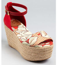 df4a9dcc73ff item 1 NWOB Tory Burch Sherri Mid Wedge Espadrilles Sandals Red Floral  195  – 9 -NWOB Tory Burch Sherri Mid Wedge Espadrilles Sandals Red Floral  195 –  9