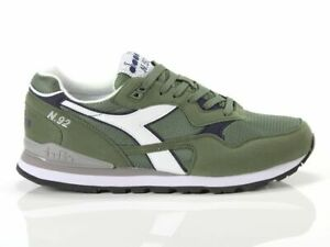 Scarpe-da-uomo-Diadora-N92-70225-verde-passeggio-tela-sneakers-sportiva-casual