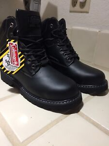 fad43a19ee6 Details about NEW Coleman Steel Toe Mens Work Wear Boots Leather Black Size  11 Socket