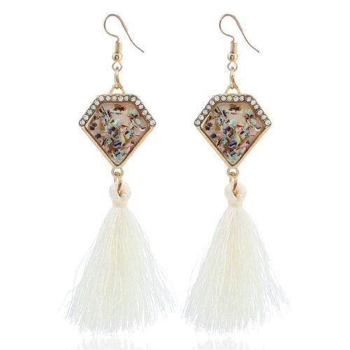 Femme Paire Boucle Oreilles Crochet Pendantes Diamant Frange Gland Bijoux Bohême
