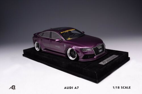 Alba Cielo Lim 15 AB Models 1//18 Audi Liberty Walk LB A7 LBWK Purple
