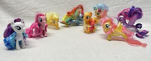 My Little Pony Lot 2017 Hasbro MLP Toy Ponies Brushable Tinsel Hair Sea Mermaids