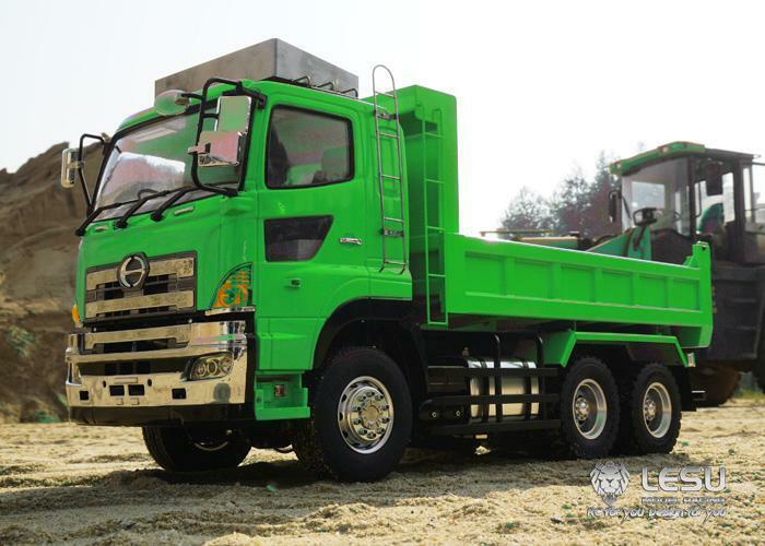 LESU RC Hino 66 con Cassone  Ribaltabile Camion Motore idraulico di sollevamento ESC 1 14 TAMIYA modellolo  prezzi bassissimi