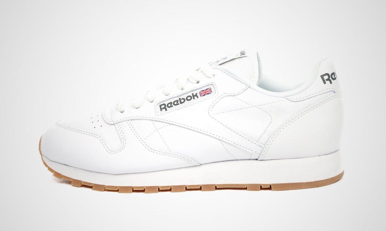 Reebok Classic Leather weiß gum, Turnschuhe, Art. 49799, NEU im Karton
