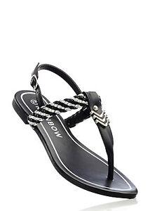 Angesagte-Sandale-mit-tollen-Details-in-Schwarz-Silber-Gr-42-M2857-936500