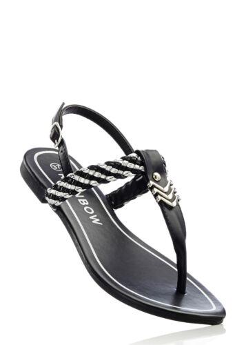 41 M3255-936500 Gr Angesagte Sandale mit tollen Details in Schwarz//Silber
