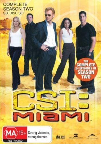 1 of 1 - CSI: Miami Season 2 DVD Set David Caruso Emily Procter Adam Rodriguez