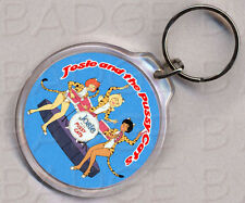 Josie and the Pussycats round keyring - DOUBLE SIDED!
