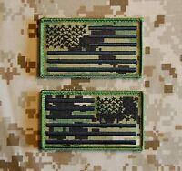 Nwu Iii Aor2 Fabric Us Flag Patch Set Seal Nswdg Devgru Us Navy St6 Hook Backing